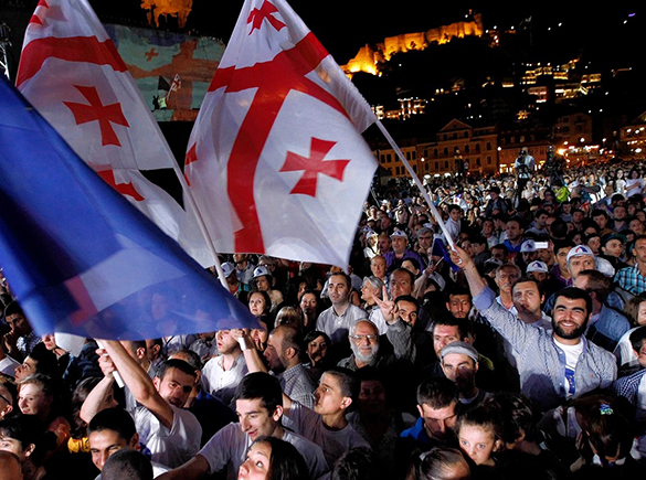 Georgians celebrating the signing of the Association Agreement in 2014.