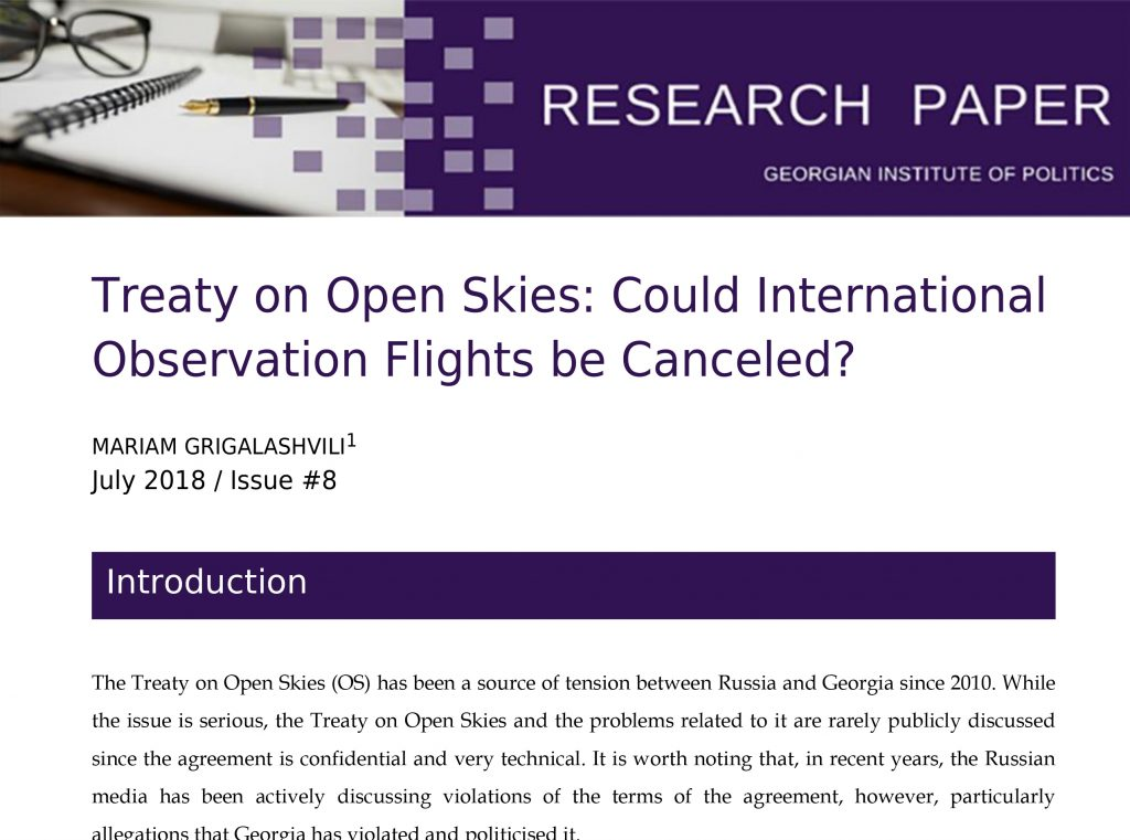 Treaty On Open Skies Could International Observation Flights Be